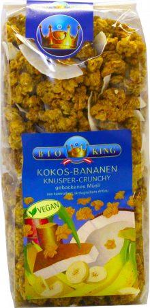 Bioking Bio pirított ropogós müzli kókuszos-banános 375g