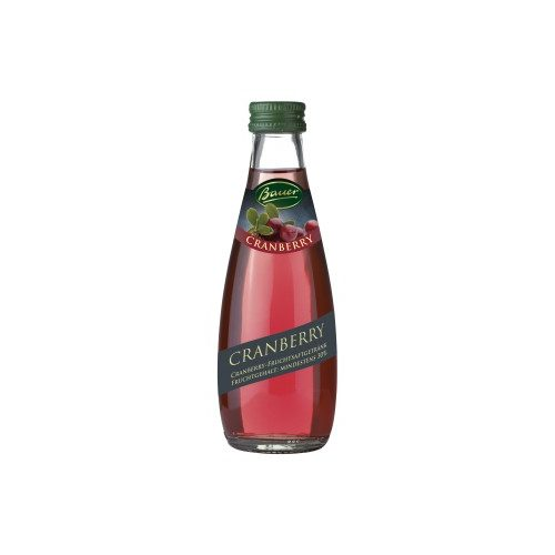 Bauer vörösáfonya nektár 28% 0,2l